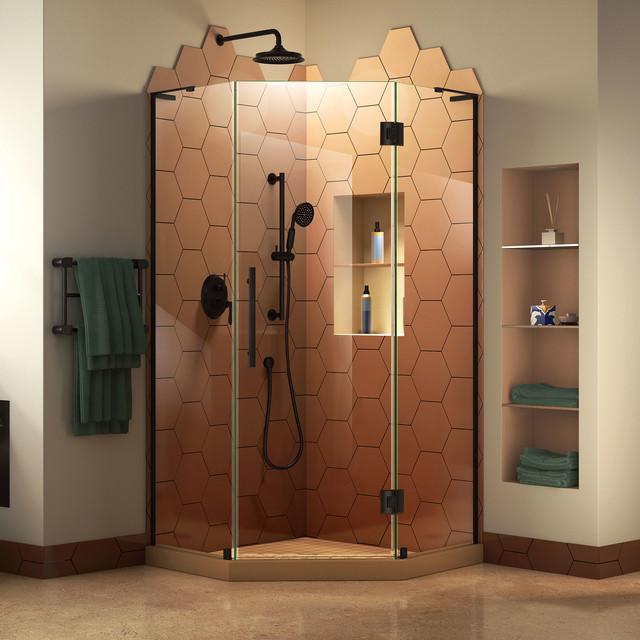 Hynes Frameless Shower Enclosure - Modern - Shower Doors - by Luxvanity