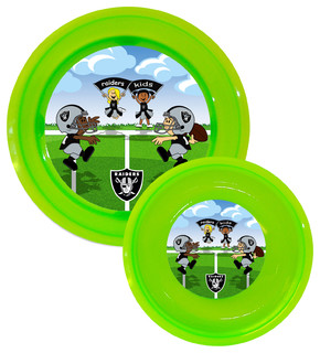 Plate & Bowl Set, Oakland Raiders - Dining Bowls - by Baby ...