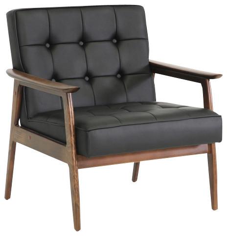 Baxton Studio Stratham Mid Century Modern Club Chair