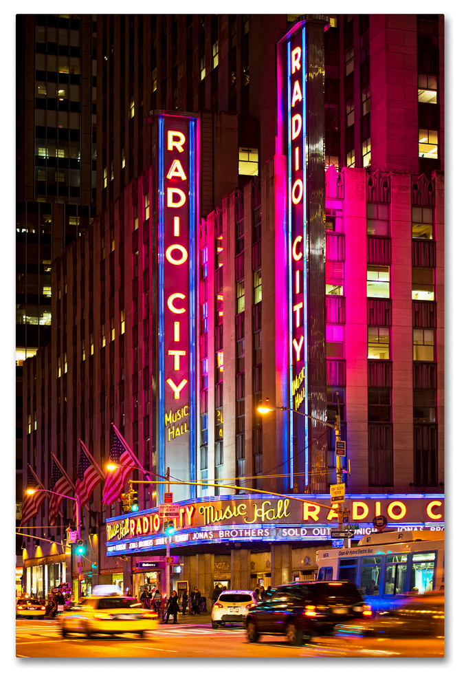 Philippe Hugonnard Night Walk In Manhattan Canvas Art Traditional Prints And Posters By Trademark Global