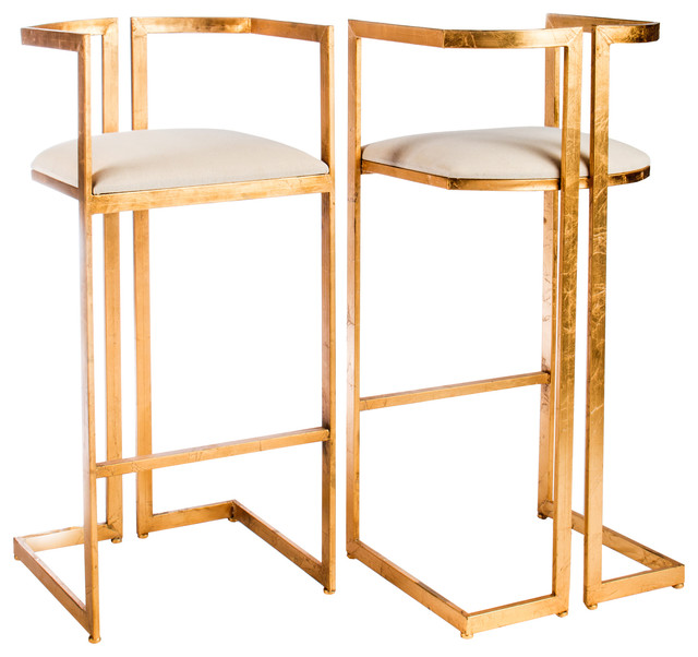 Miloh Sheepksin Bar Stools, Set Of 2.