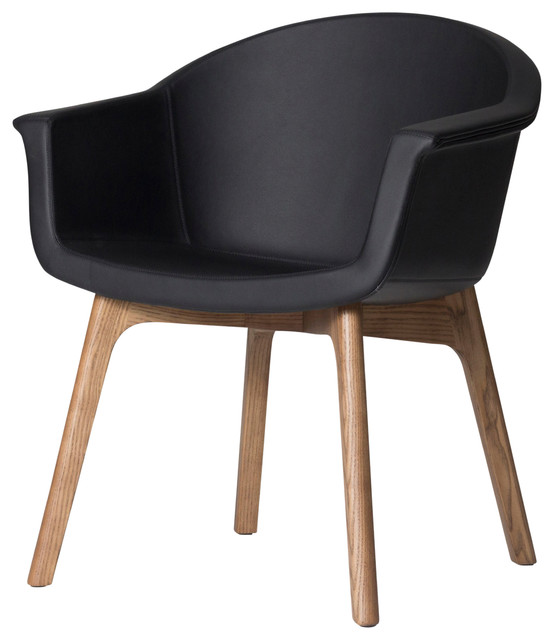 Swell Vitale Matte Black Naugahyde Dining Chair Machost Co Dining Chair Design Ideas Machostcouk