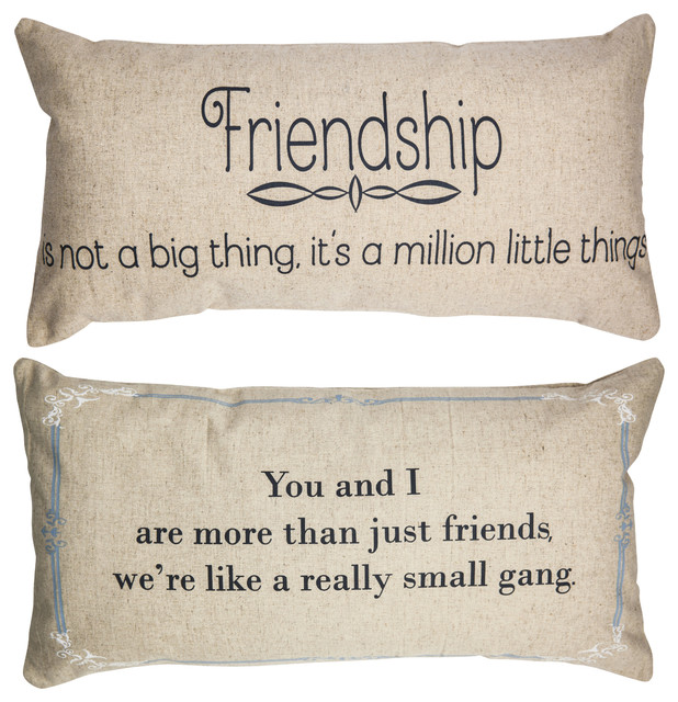 Decorative Pillows With Quotes Friendship Quotes Double Sided Linen Message Pillow Birthday Gift  Decorative Pillows With Quotes