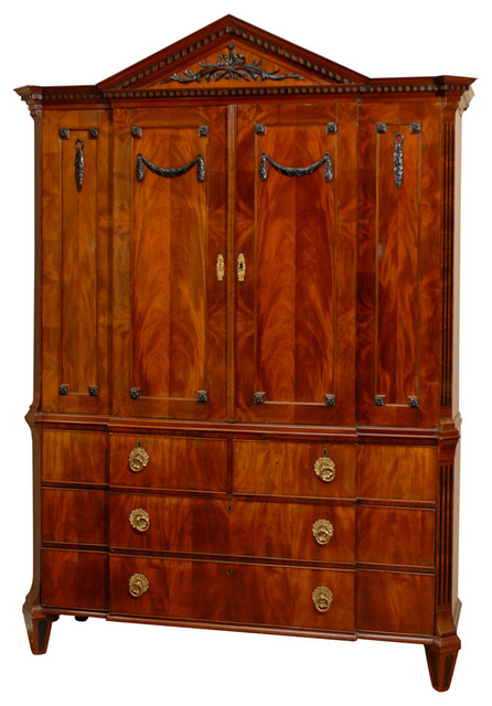 Consigned 18th Century Dutch Empire Cabinet - Traditional ...