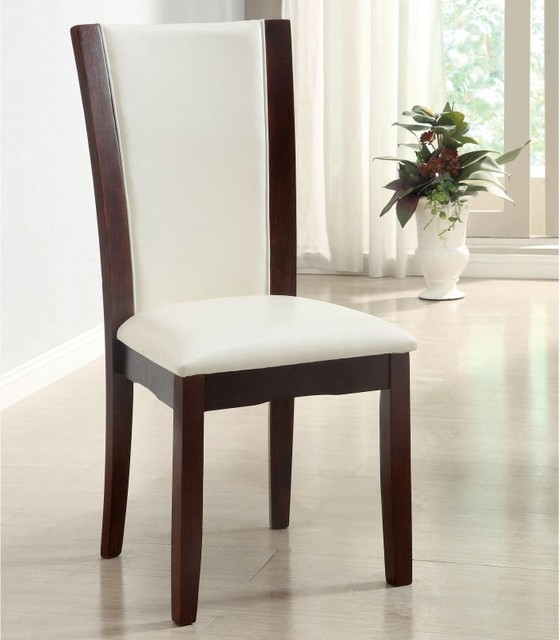 Awe Inspiring Furniture Of America Melany Leatherette Dining Side Chairs Dark Cherry Set O Pabps2019 Chair Design Images Pabps2019Com