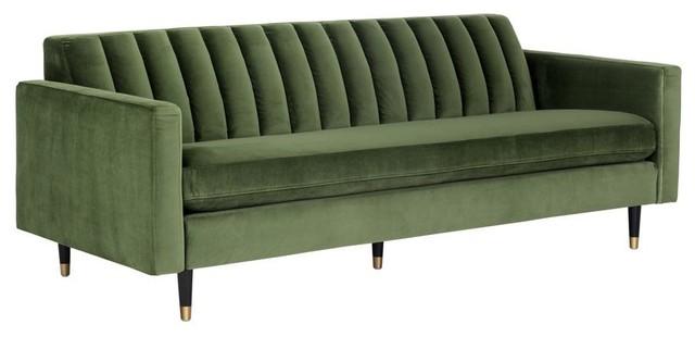 Romaine Sofa Moss Green Fabric