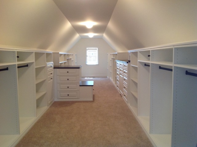 Vaulted Ceiling Closets Traditional