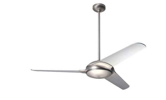 "Modern Fan Company Flow Matte Nickel 52"" Ceiling Fan."