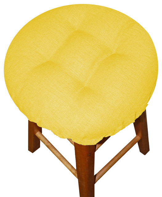 Barnett Home Decor Rave Yellow Gold Bar Stool Cover with  : contemporary seat cushions from www.houzz.com size 526 x 640 jpeg 87kB