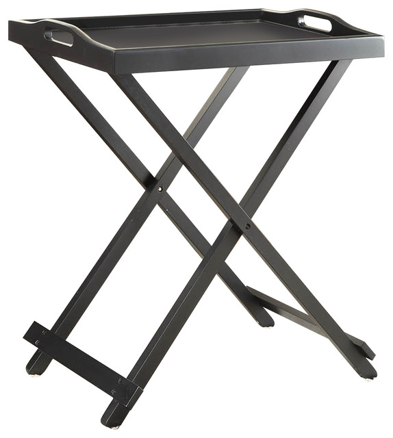 Folding Tray Table in Black