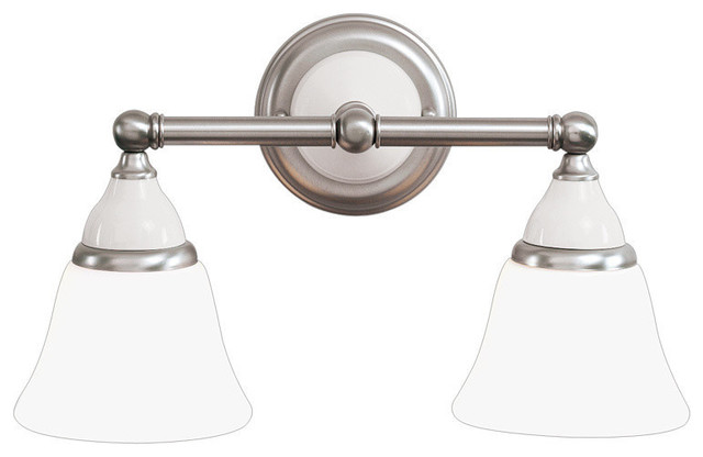 Bathroom Vanity Lights Traditional : Porcelain 2-Light Bath and Vanity - Bathroom Vanity Lighting Houzz