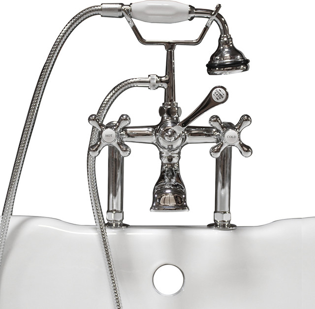 Clawfoot Tub Faucet Hand Held Shower 6 Quot Deck Mount
