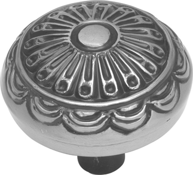 Southwest Lodge Medallion Cabinet Knob, Silver - Traditional ...