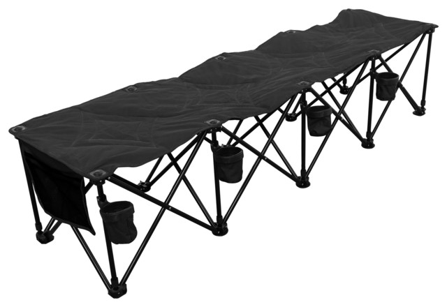 Goteam 4 Seat Portable Folding Team Bench Modern Outdoor Lounge Chairs By Vandue Corporation