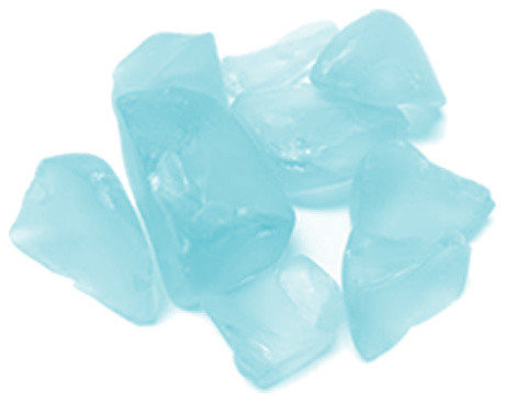 Sea Glass Table Scatters Vase Fillers Frosted Light Blue 1 Lb Bag