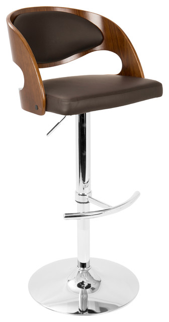 Lumisource Pino Mid Century Modern Barstool With Swivel