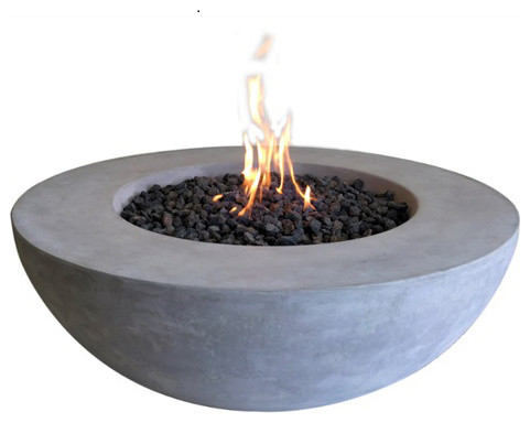 cast concrete lunar bowl natural gas contemporary fire pits pit bowls insert square 22 replacement