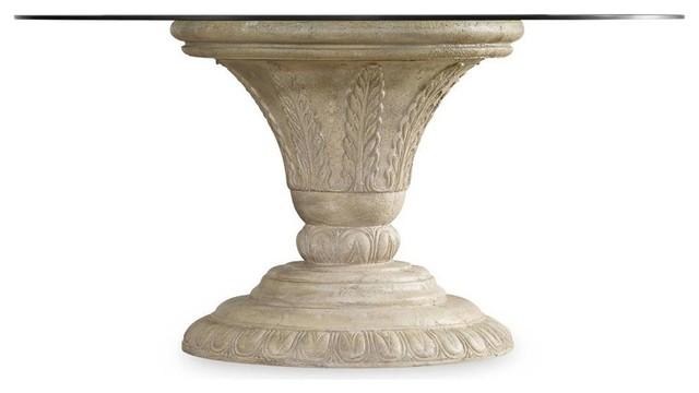 Hooker furniture liza dining table base traditional for Traditional dining table bases