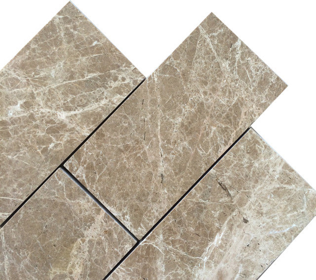 3x6 Emperador Light Polished Marble Floor And Wall Tile