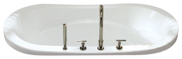 "72""x36"" Drop-In Revelation Bathtub, Soaker."