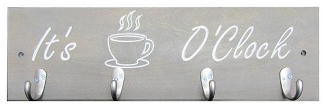 Gray Coffee Cup Holder, It&x27;s Coffee O&x27;clock.