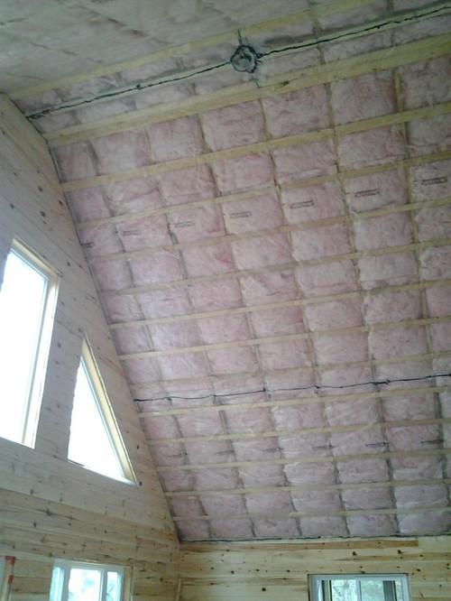 Cottage cathedral ceiling - which way to install tongue-in-groove pine?