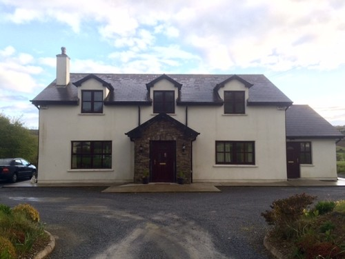 our house is in west cork ireland we would be grateful for all ideas windows are brown we are looking for colours for the exterior walls and around - Exterior House Colors Brown