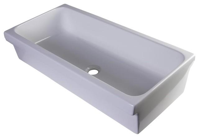 alfi trade alfi brand porcelain bathroom trough sink bathroom sinks