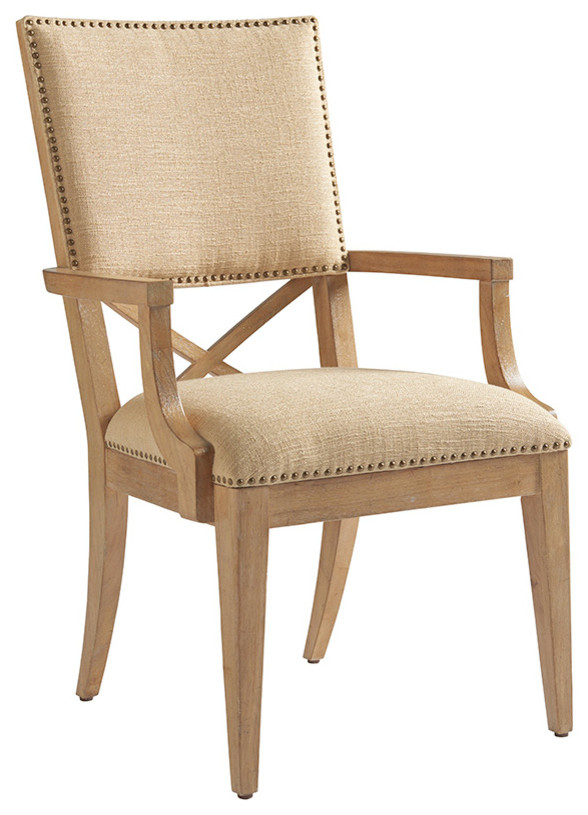 Alderman Upholstered Arm Chair Transitional Dining