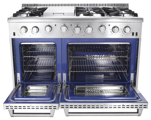 Thor Kitchen 48quot Double Oven Gas Range Modern by  : modern from www.houzz.com size 640 x 510 jpeg 106kB
