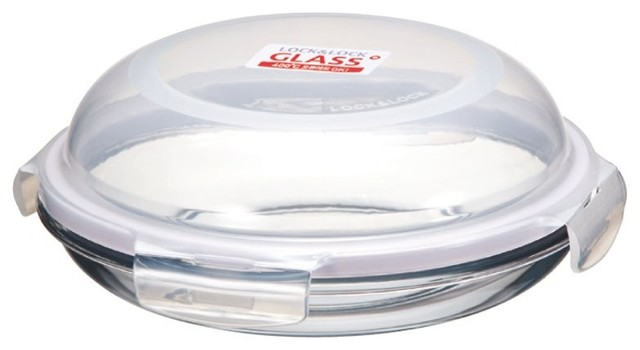 Lock&lock Boroseal Ii Heat Resistant 7-Inch Glass Dome Style Container.