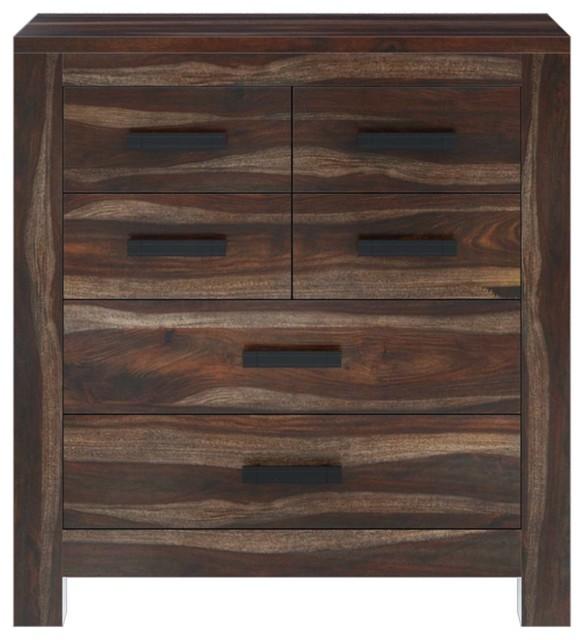 Roanoke Rustic Solid Wood 6 Drawer Dresser.