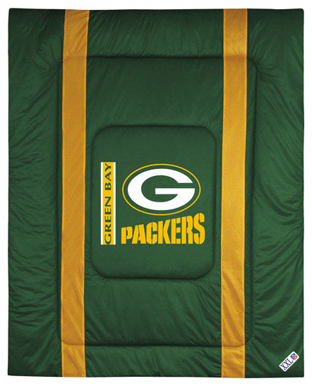 NFL Green Bay Packers Comforter Sidelines Football Bed  Contemporary Kids Bedding