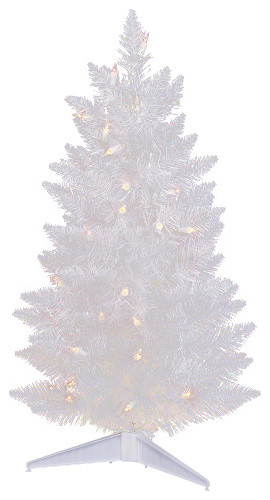 pre lit led sparkle spruce pencil artificial christmas tree white clear 25