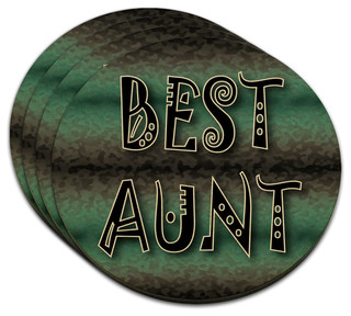 ... Best Aunt Admiration Respect MDF Wood Coaster, Set of 4 - Coasters