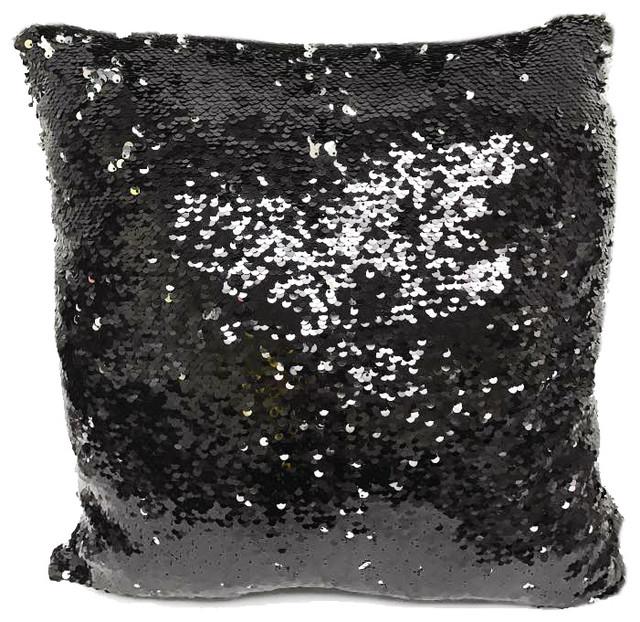 Fennco Styles Glam Mermaid Sequin Throw Pillow - Decorative Pillows Houzz