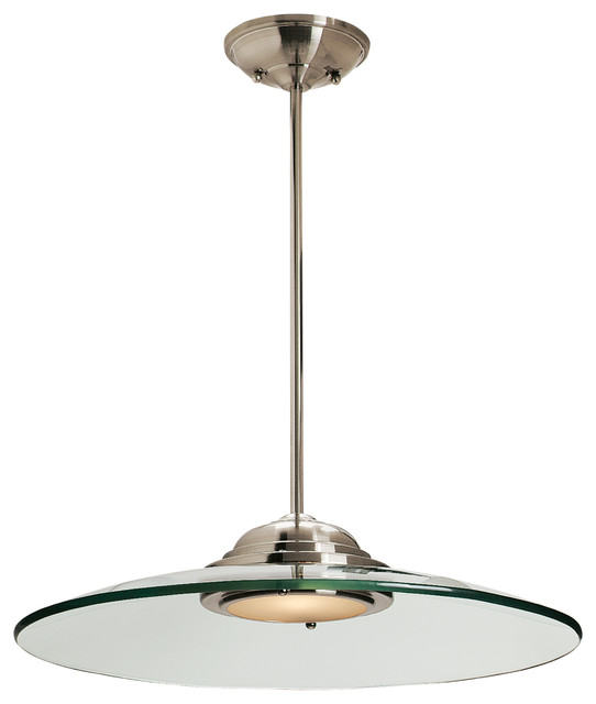 Phoebe, 50444, Semi-Flush Or Pendant, Led, Brushed Steel With Clear.