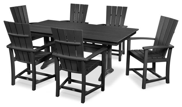 POLYWOOD Quattro 7-Piece Farmhouse Dining Set
