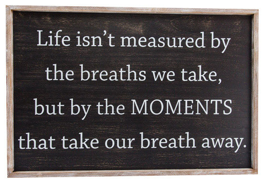 """""""Moments"""" Framed Sign"""