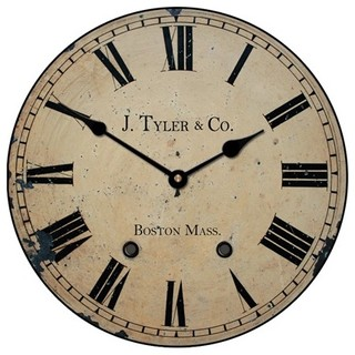 Astor Clock Roman Numerals Traditional Wall Clocks