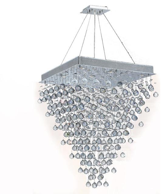 Icicle 10 light chrome finish raindrop crystal chandelier 28 square icicle 10 light chrome finish raindrop crystal chandelier 28 square aloadofball Images