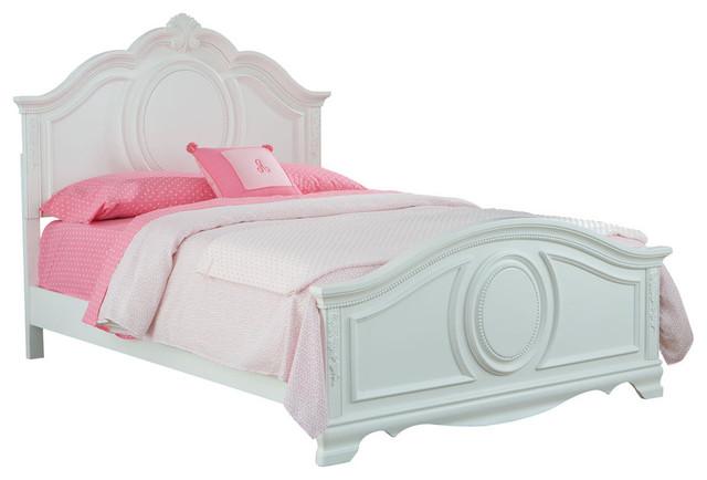 Standard Furniture Jessica Kids&x27; Panel Bed In White, Full.
