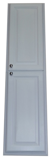 60 Recessed White Enamel Finished Montery Pantry Storage Cabinet.