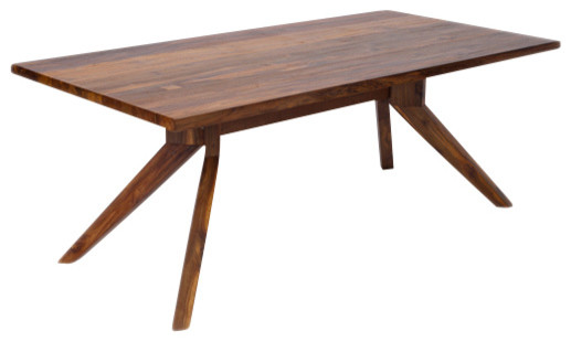 Harrison Dining Table, Solid Reclaimed Teakwood Midcentury Outdoor Dining  Tables
