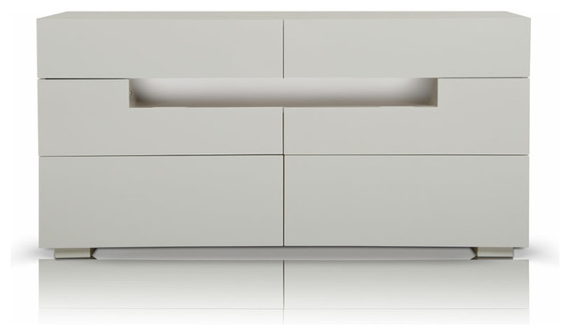 Ceres Contemporary Led White Gloss Dresser Modern Dressers