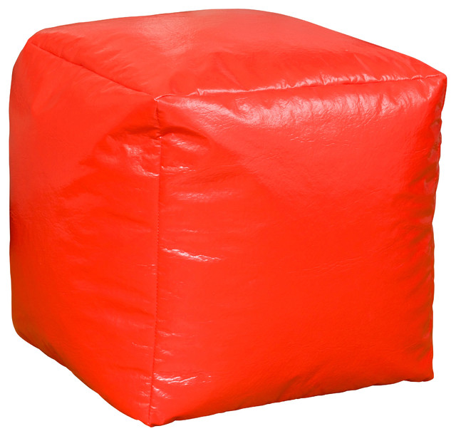 Jamie Vinyl Square Kids Bean Bag Contemporary Bean Bag Chairs By GDFStudio