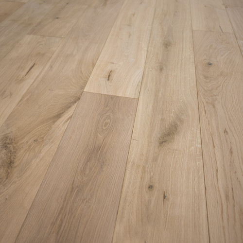 "French Oak Unfinished Engineered Wood Floor Wide Plank 7 1/2"" x 1/2"" Sample"