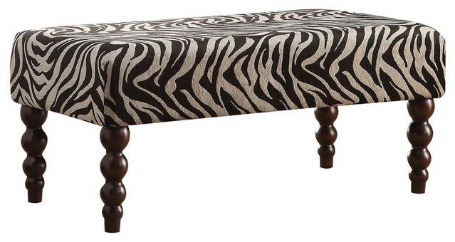 1perfectchoice Alysha Bench, Zebra Fabric. -1