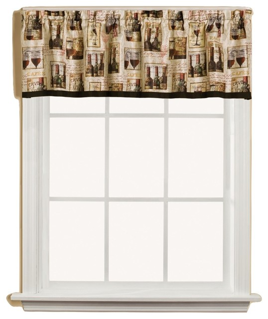 Vino wine bottles kitchen curtain traditional curtains by linens4less