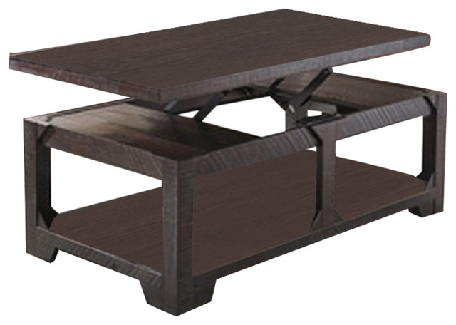 ashley lift top cocktail table rogness rustic brown transitional coffee tables by zfurniture. Black Bedroom Furniture Sets. Home Design Ideas